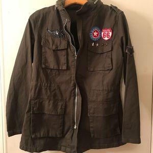 New Monarda Patchwork Utility Jacket Medium